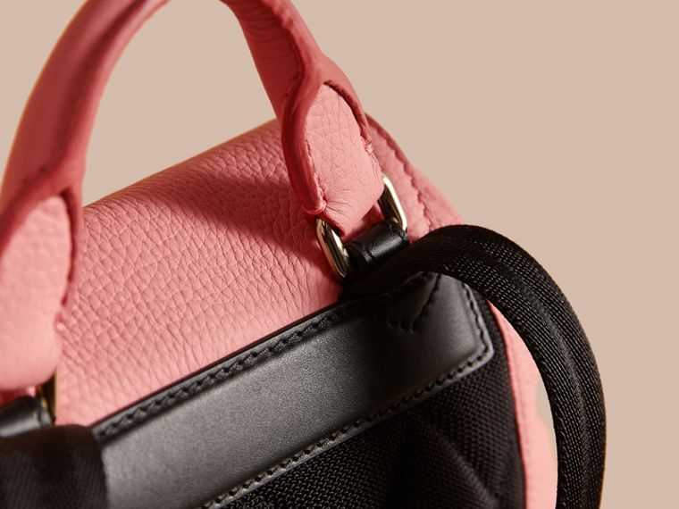 The Medium Rucksack in Deerskin with Resin Chain in Blossom Pink - Women | Burberry Hong Kong - cell image 1