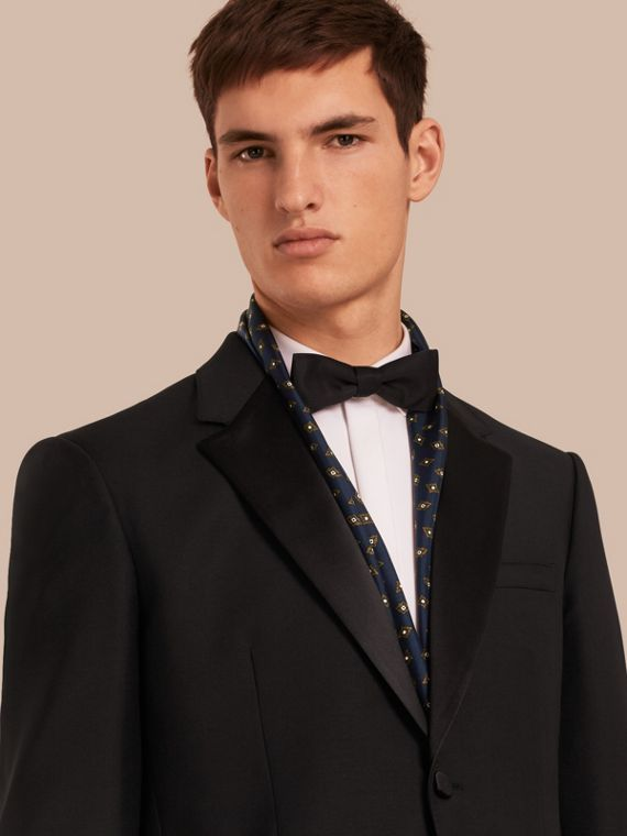 Classic Fit Wool Mohair Part-canvas Tuxedo - Men | Burberry