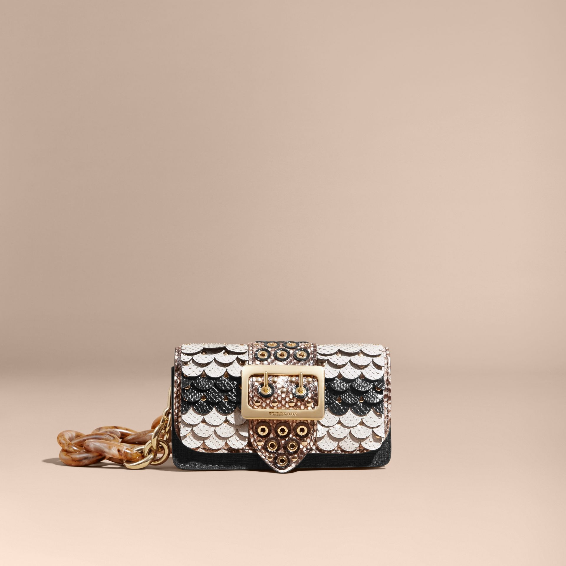 The Small Buckle Bag in Scalloped Snakeskin - gallery image 9