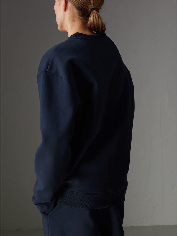 Reissued Jersey Sweatshirt in Dark Blue - Women | Burberry United States - cell image 2