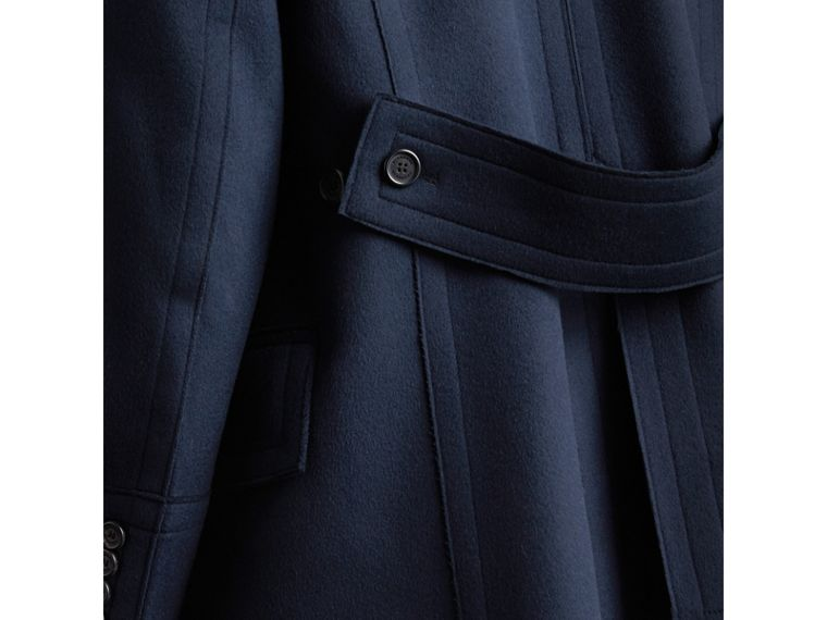Resin Button Wool Pea Coat in Military Navy - Men | Burberry - cell image 4
