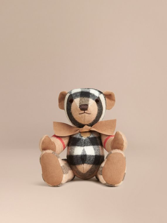 Thomas Bear in Check Cashmere Camel