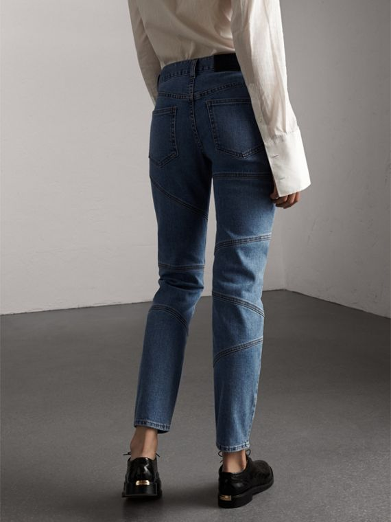 Slim Fit Seam Detail Japanese Denim Jeans - Women | Burberry - cell image 2