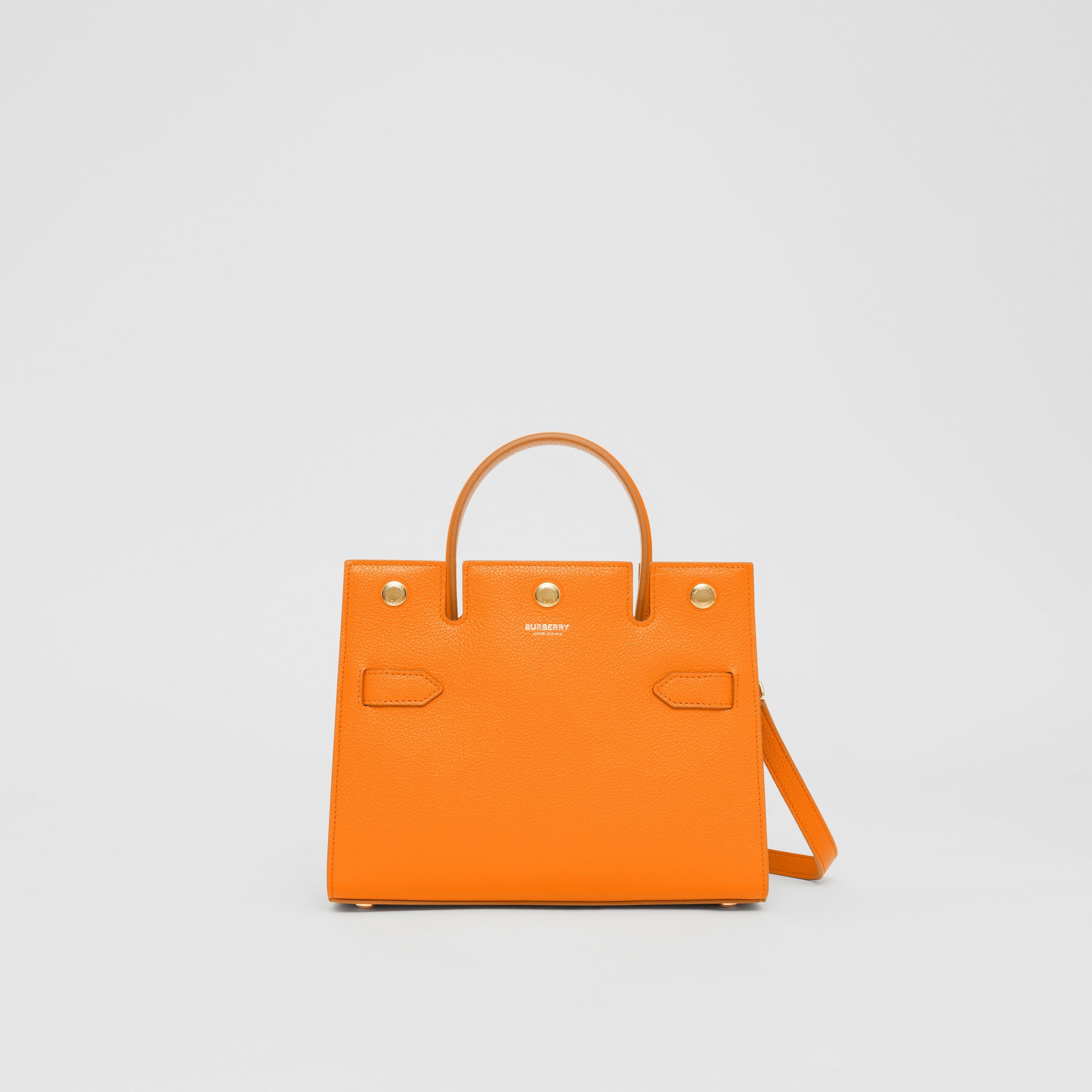 Mini Leather Title Bag in Orange - Women | Burberry - 1