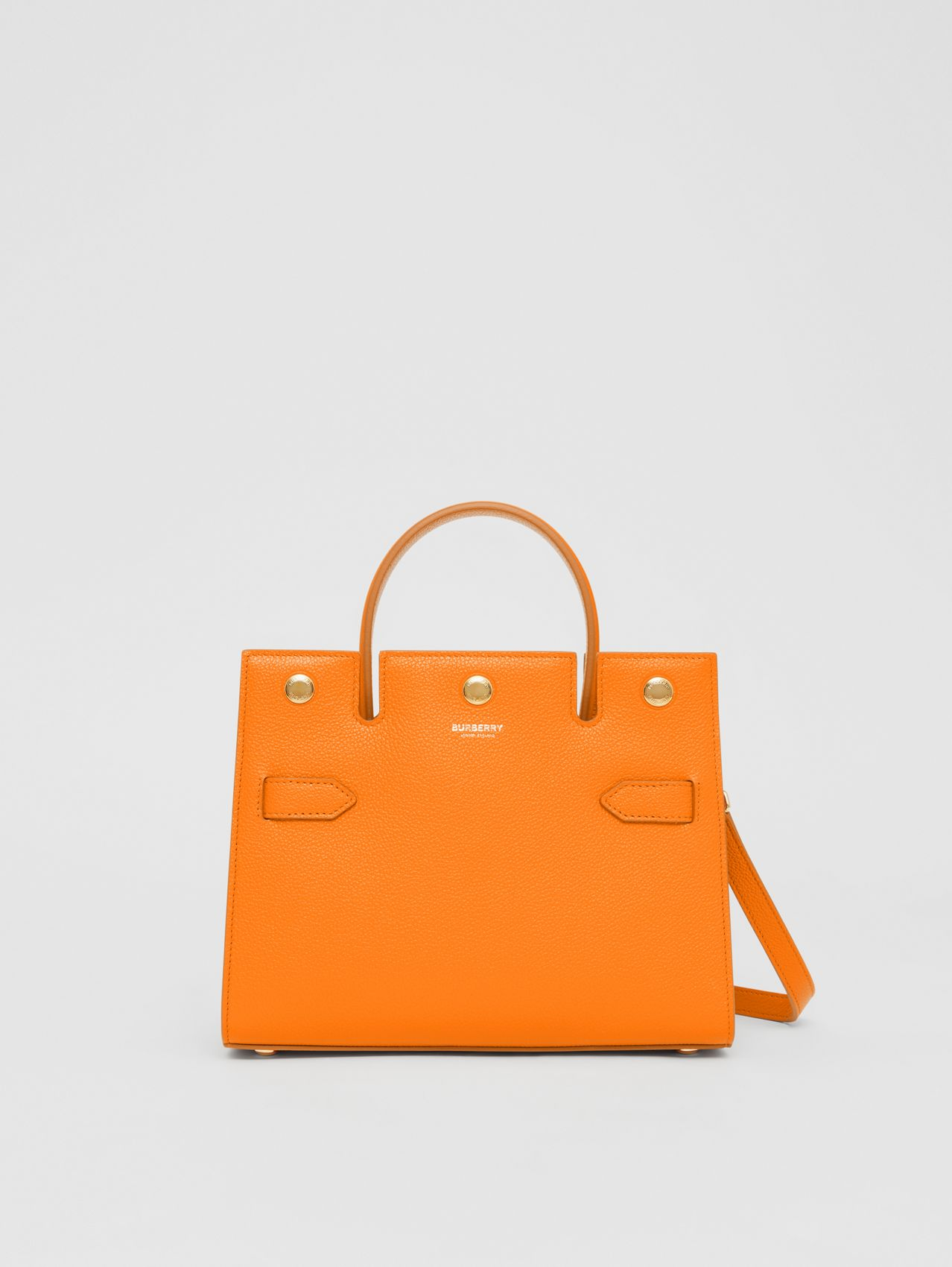 Mini Leather Title Bag in Orange