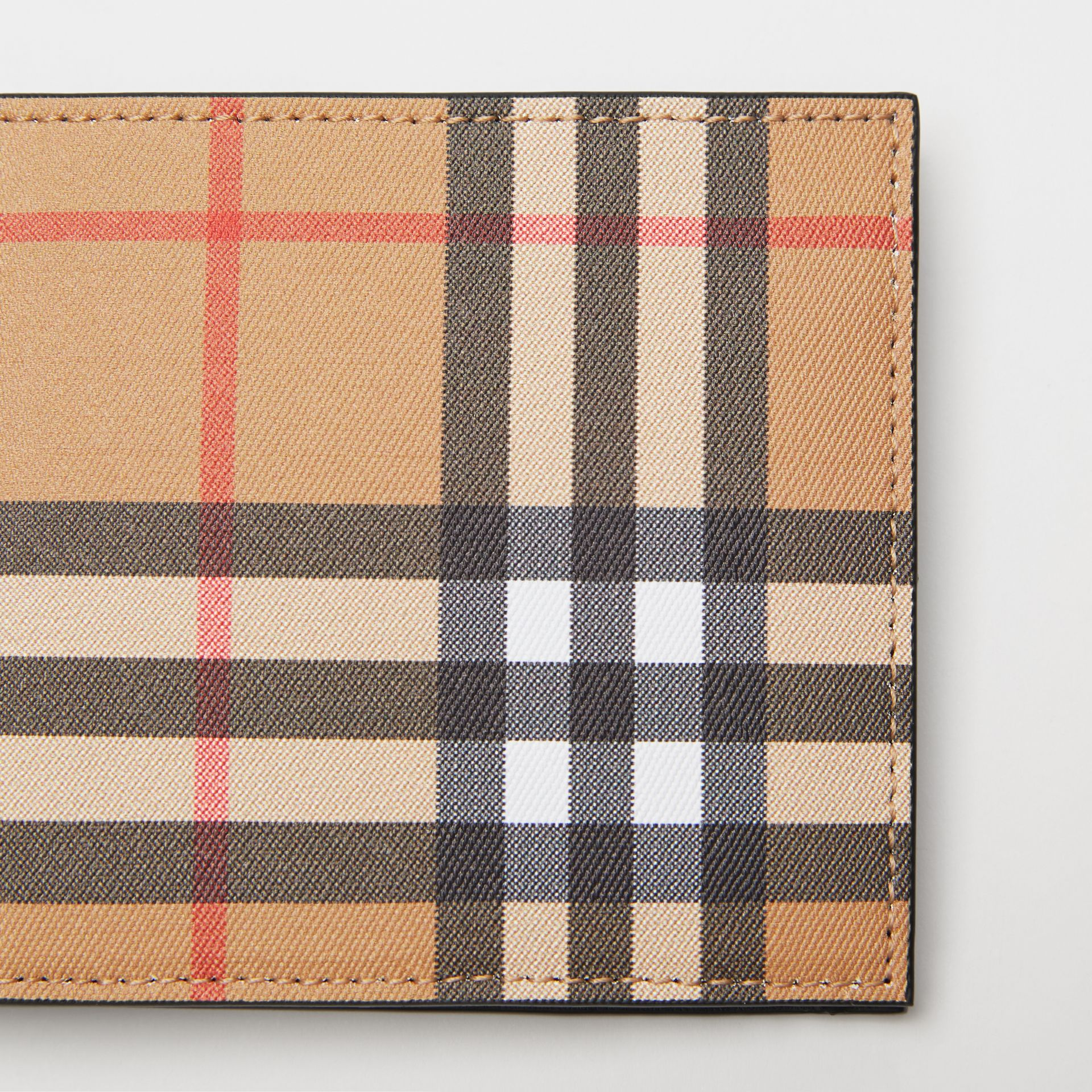 Vintage Check International Bifold Wallet in Black - Men | Burberry Australia - gallery image 1
