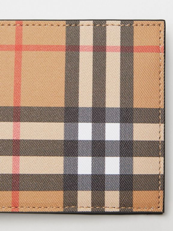 Vintage Check International Bifold Wallet in Black - Men | Burberry United Kingdom - cell image 1