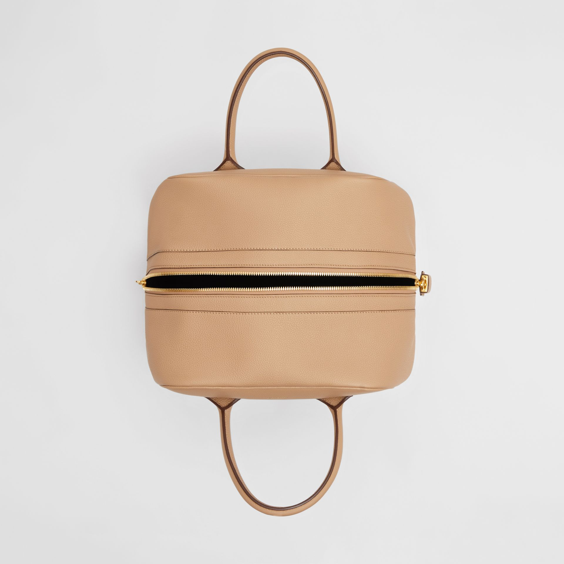 Medium Leather Cube Bag in Biscuit - Women | Burberry - gallery image 4