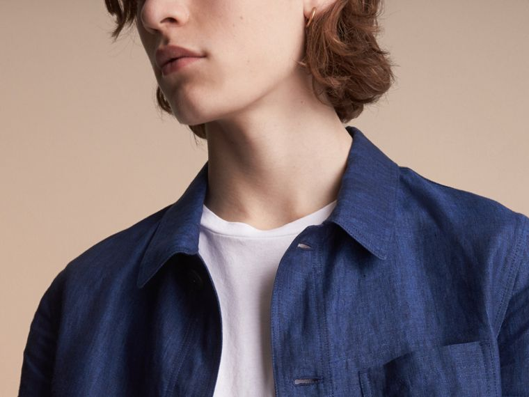 Linen Workwear Jacket - Men | Burberry - cell image 4