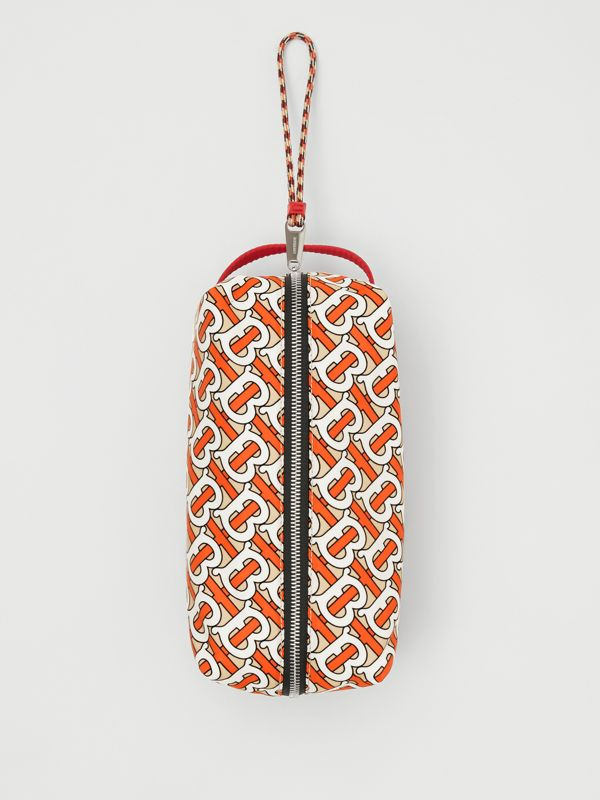 Monogram Print Nylon Pouch in Vermilion | Burberry Singapore - cell image 3