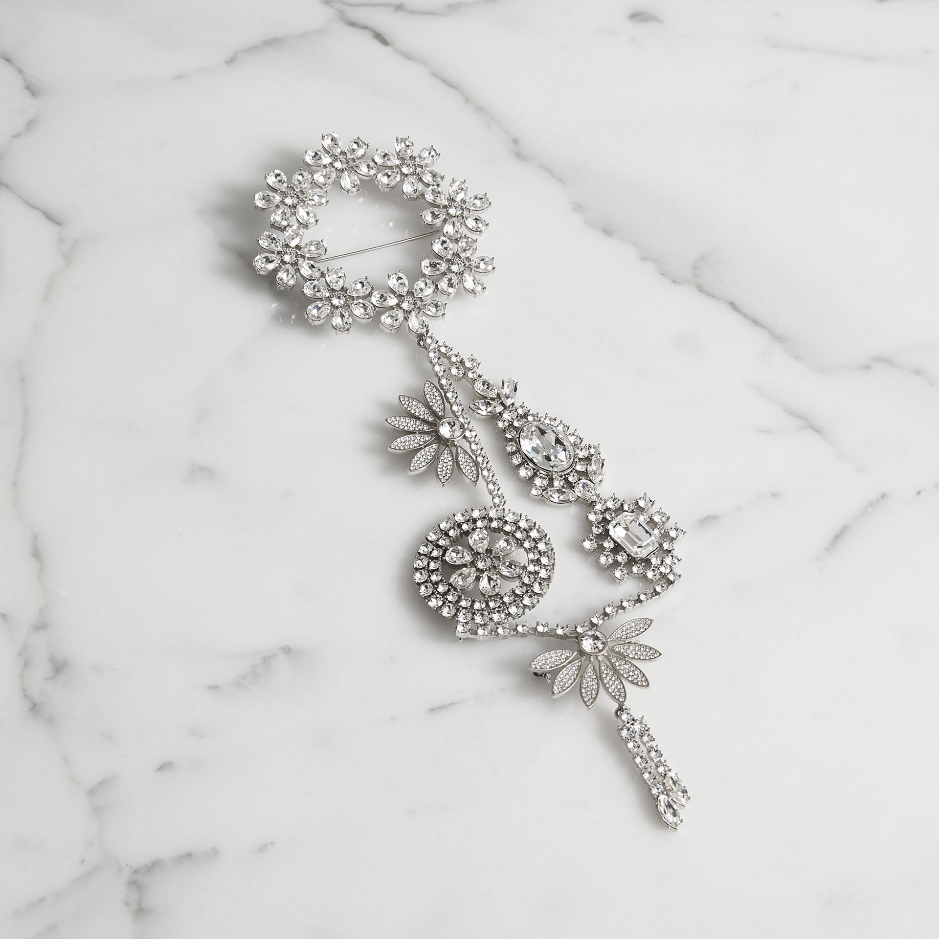 Crystal Daisy Chain Chandelier Brooch - Women | Burberry Hong Kong - gallery image 0
