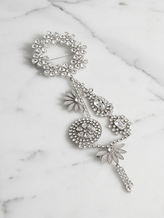 Crystal Daisy Chain Chandelier Brooch