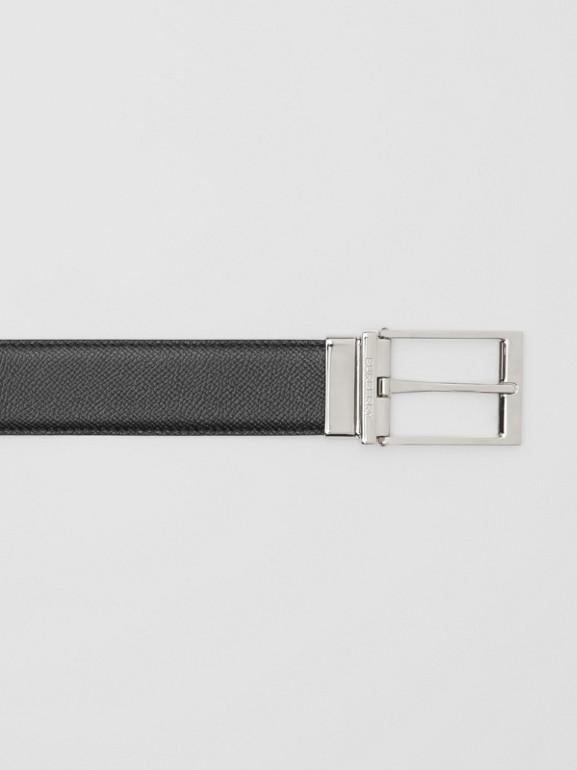 Reversible Grainy Leather Belt in Navy/black - Men | Burberry - cell image 1