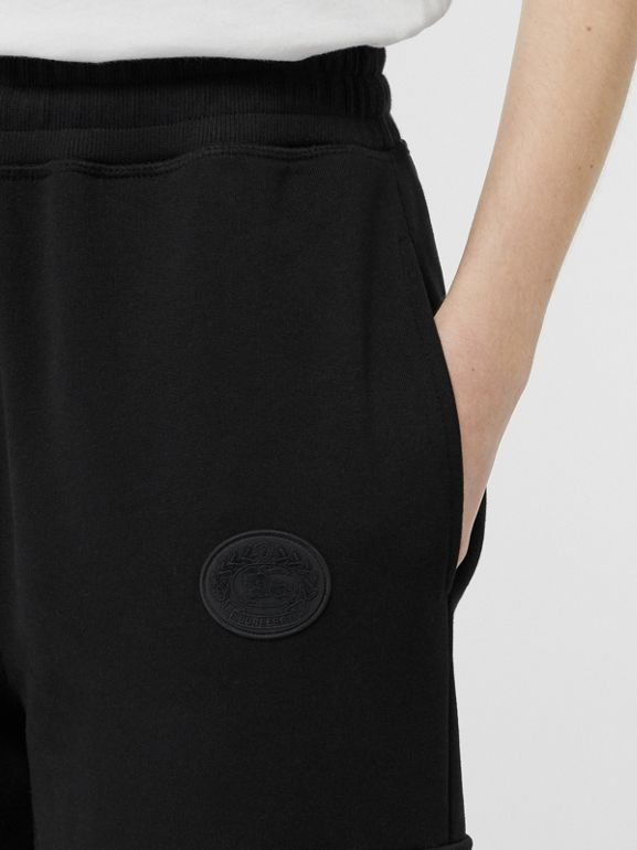 Pocket Detail Cotton Jersey Trackpants in Black - Women | Burberry - cell image 1