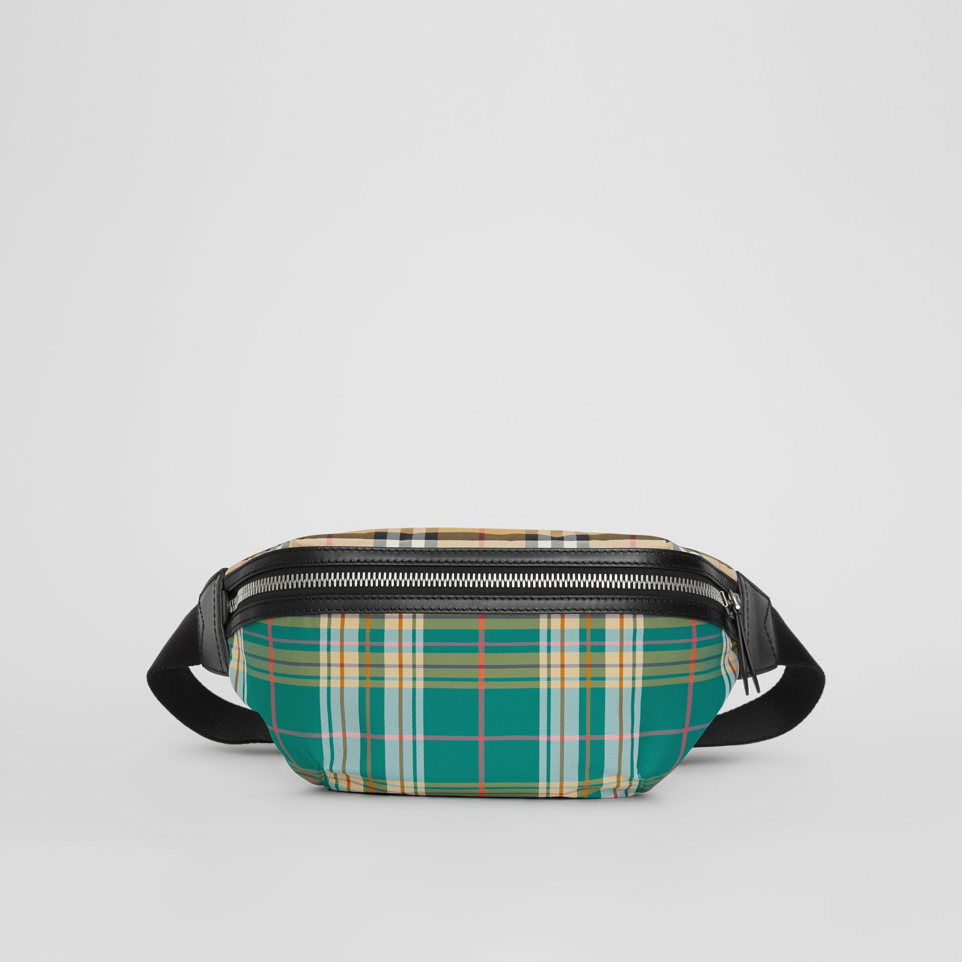 Medium Vintage Check and Tartan Bum Bag in Pine Green | Burberry - gallery image 2