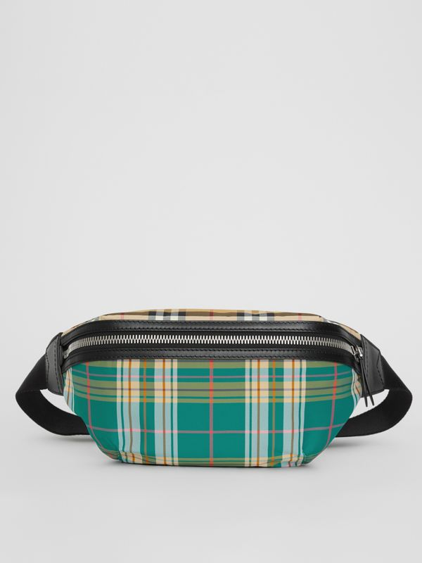 Medium Vintage Check and Tartan Bum Bag in Pine Green | Burberry Australia - cell image 2