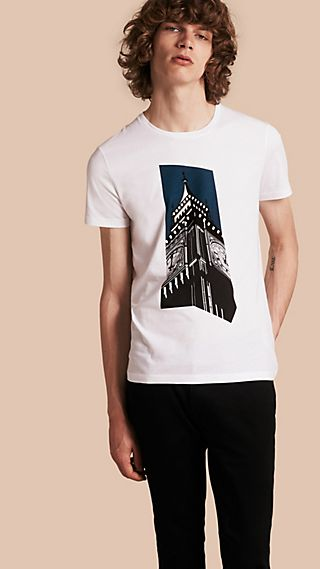 Big Ben Print Cotton T-shirt