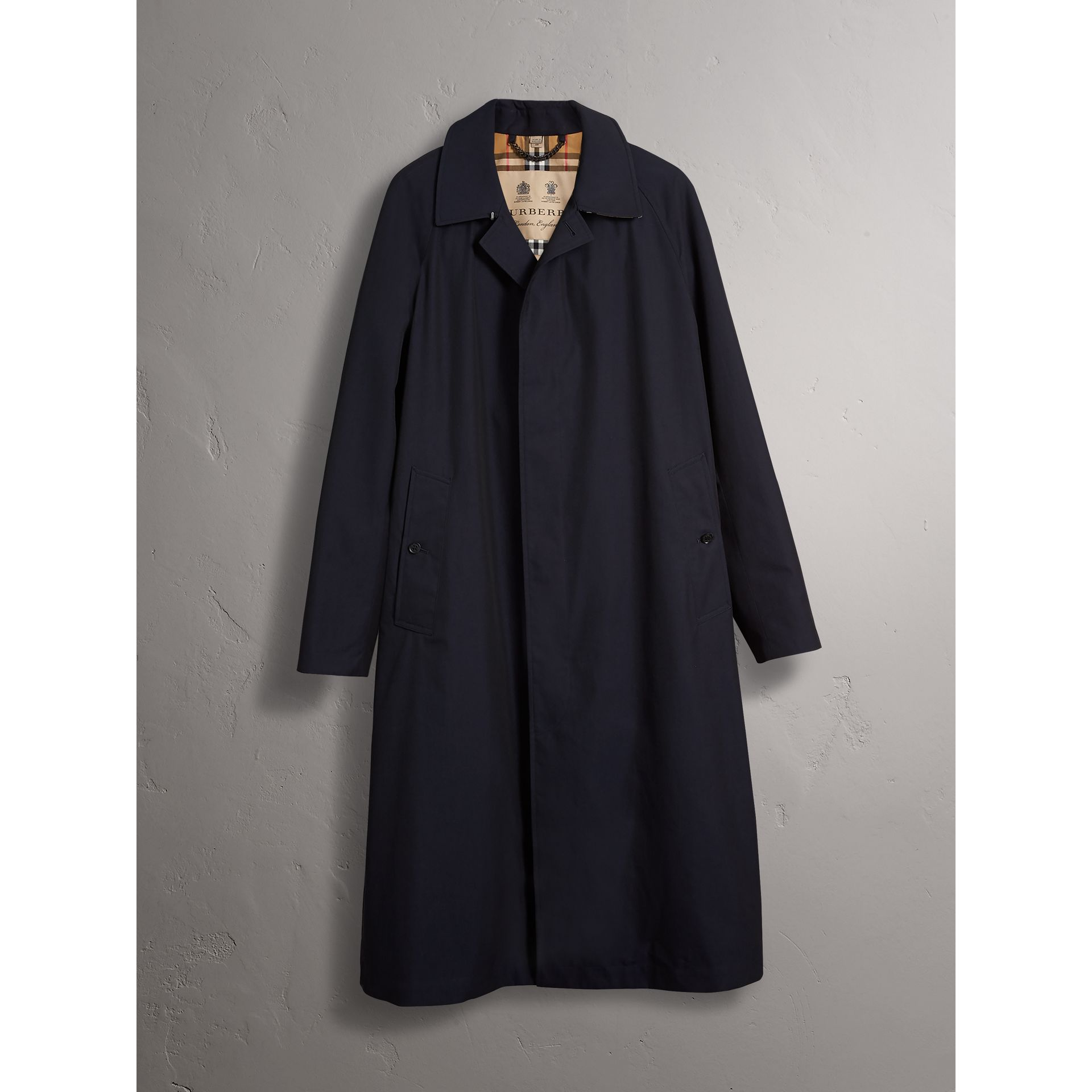 The Brighton – Longline Car Coat in Blue Carbon - Men | Burberry - gallery image 4