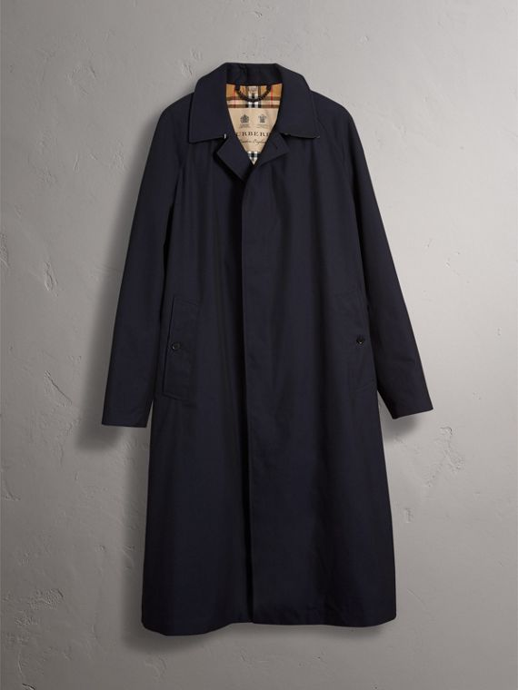 The Brighton – Longline Car Coat in Blue Carbon - Men | Burberry - cell image 3