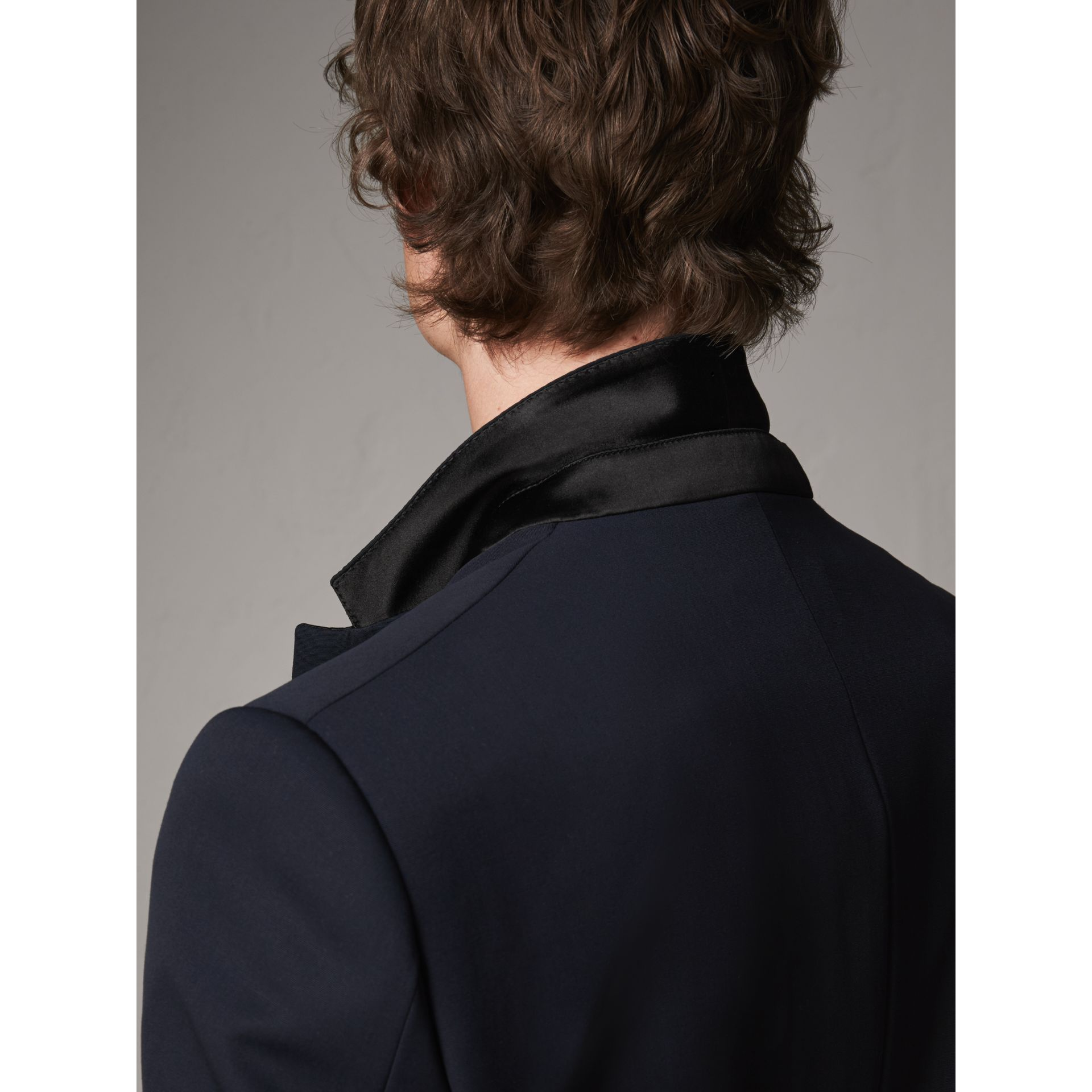 Modern Fit Virgin Wool Half-canvas Tuxedo in Navy - Men | Burberry Canada - gallery image 6