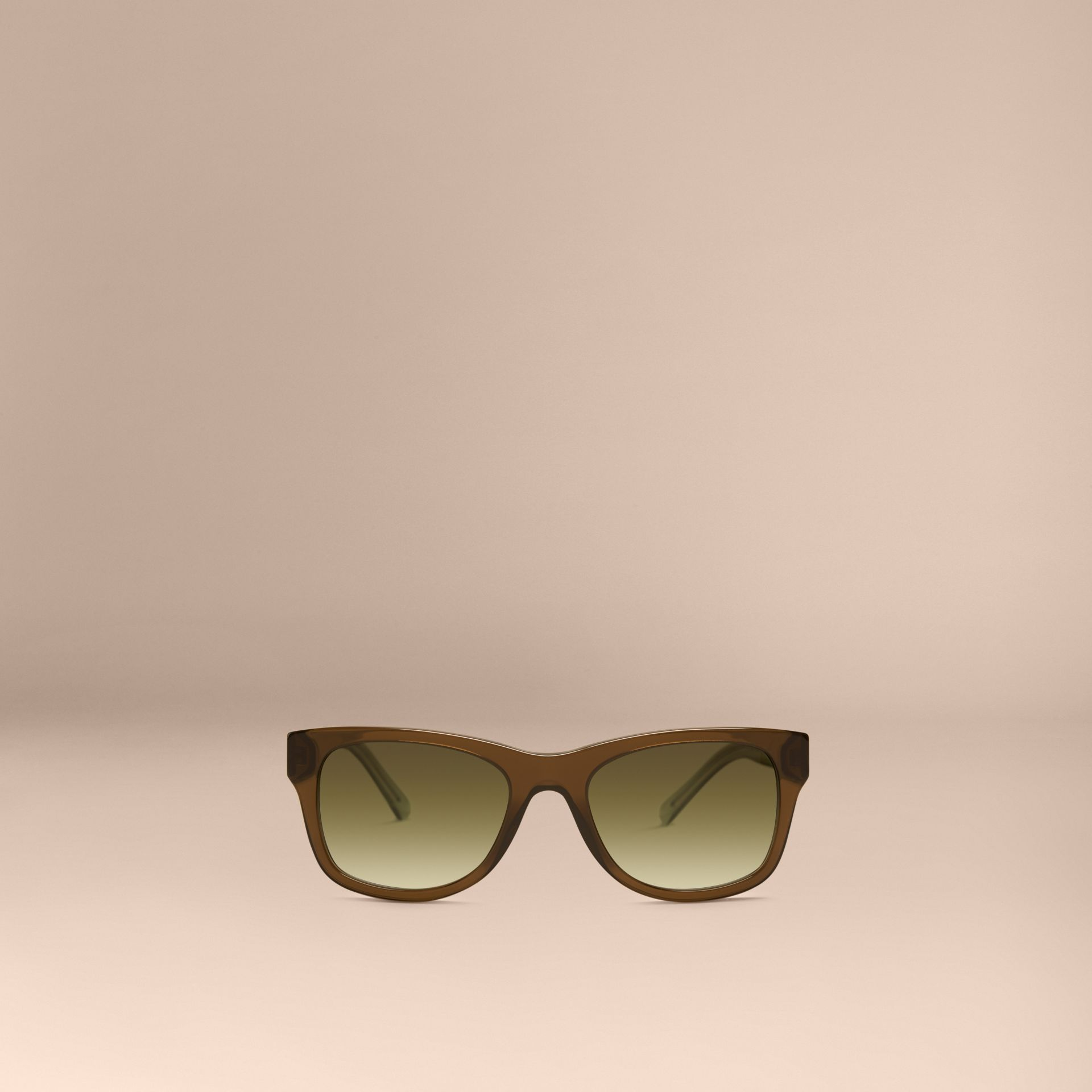 Olive Check Detail Square Frame Sunglasses Olive - gallery image 3