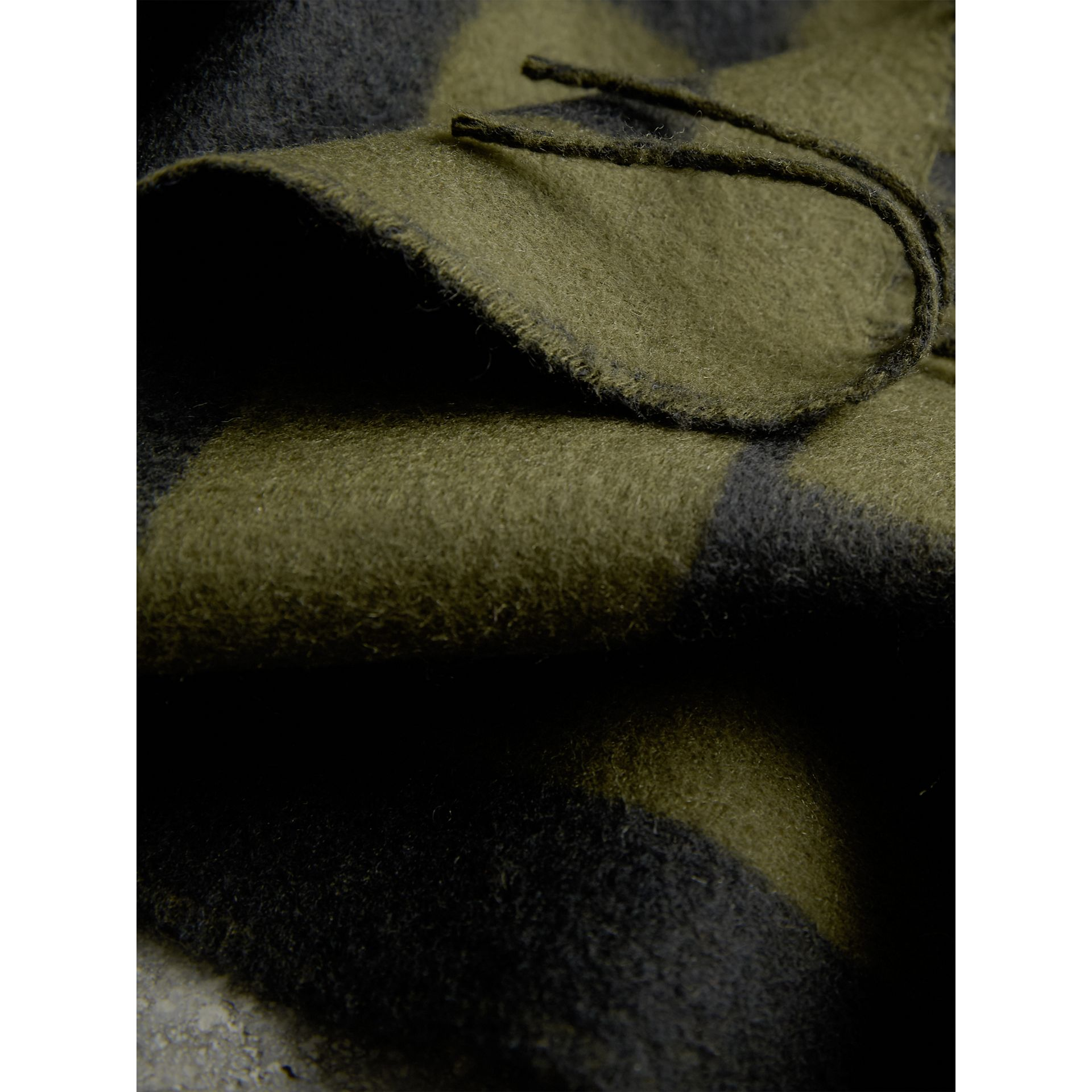 Emblem Print Cashmere Scarf in Olive | Burberry - gallery image 2