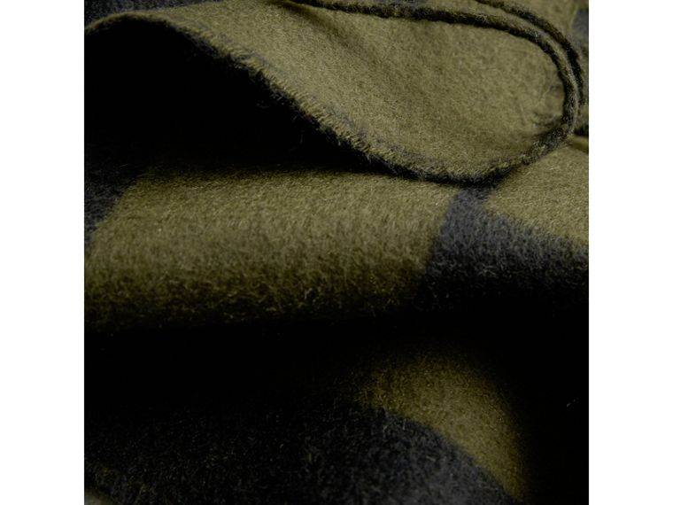 Emblem Print Cashmere Scarf in Olive | Burberry - cell image 1
