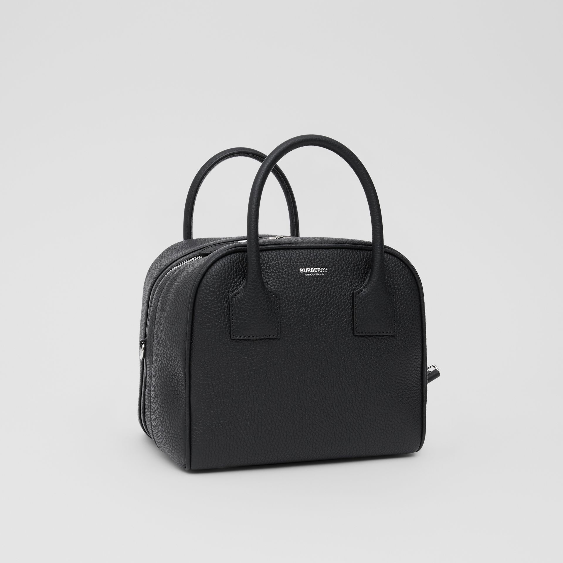 Small Leather Cube Bag in Black - Women | Burberry - gallery image 4