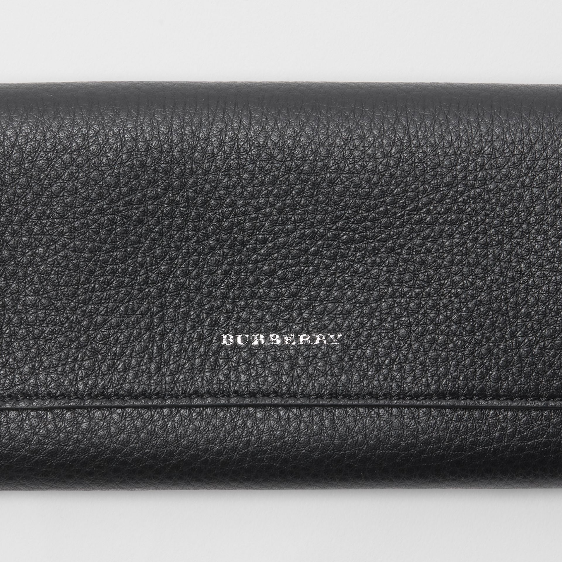 Leather Continental Wallet in Black - Women | Burberry - gallery image 1