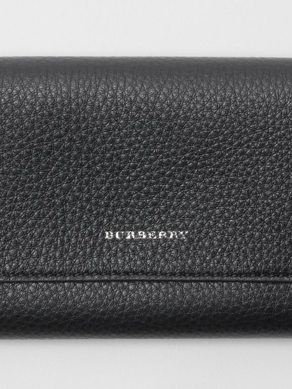 Leather Continental Wallet in Black - Women | Burberry Australia - cell image 1