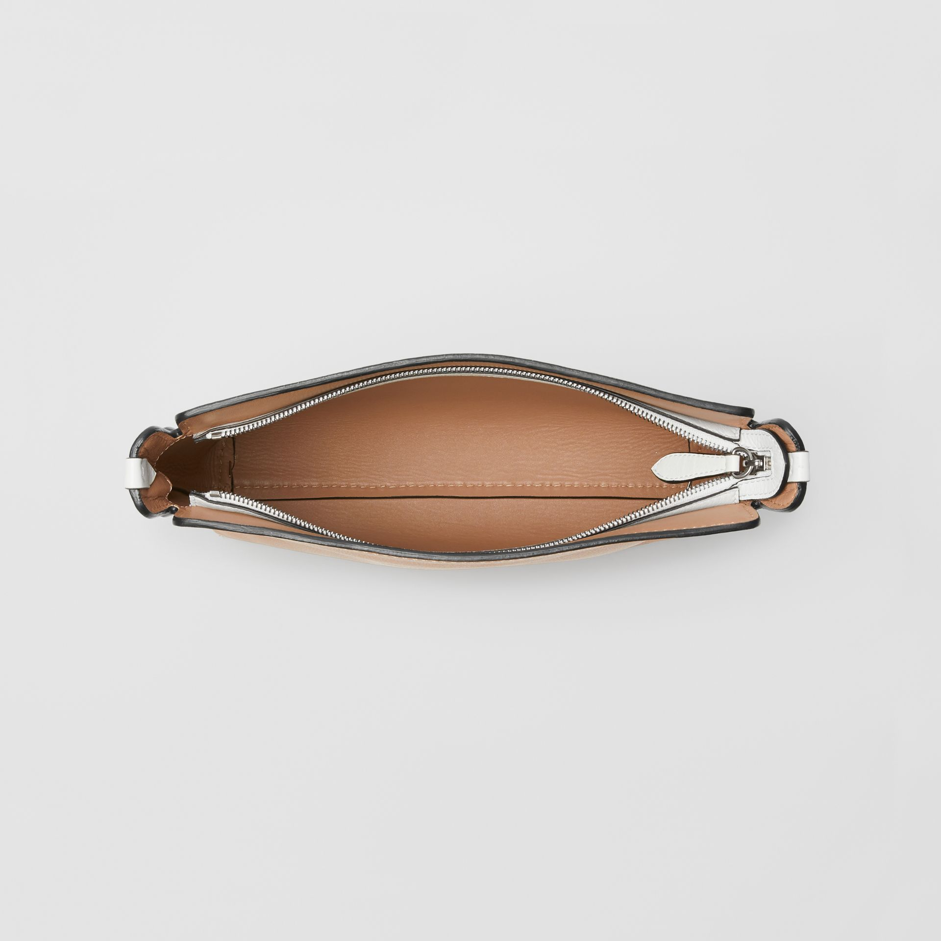 Medium Two-tone Leather Clutch in Light Camel/chalk White - Women | Burberry United States - gallery image 4