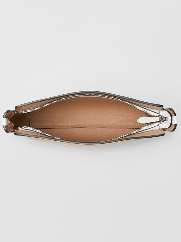 Medium Two-tone Leather Clutch in Light Camel/chalk White - Women | Burberry - cell image 3