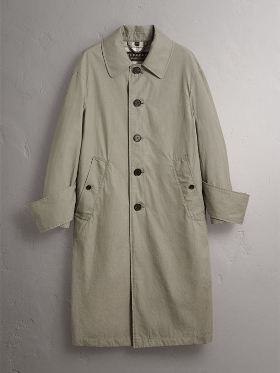 Unisex Tropical Gabardine Car Coat with Exaggerated Cuffs in Slate Green - Men | Burberry - cell image 3