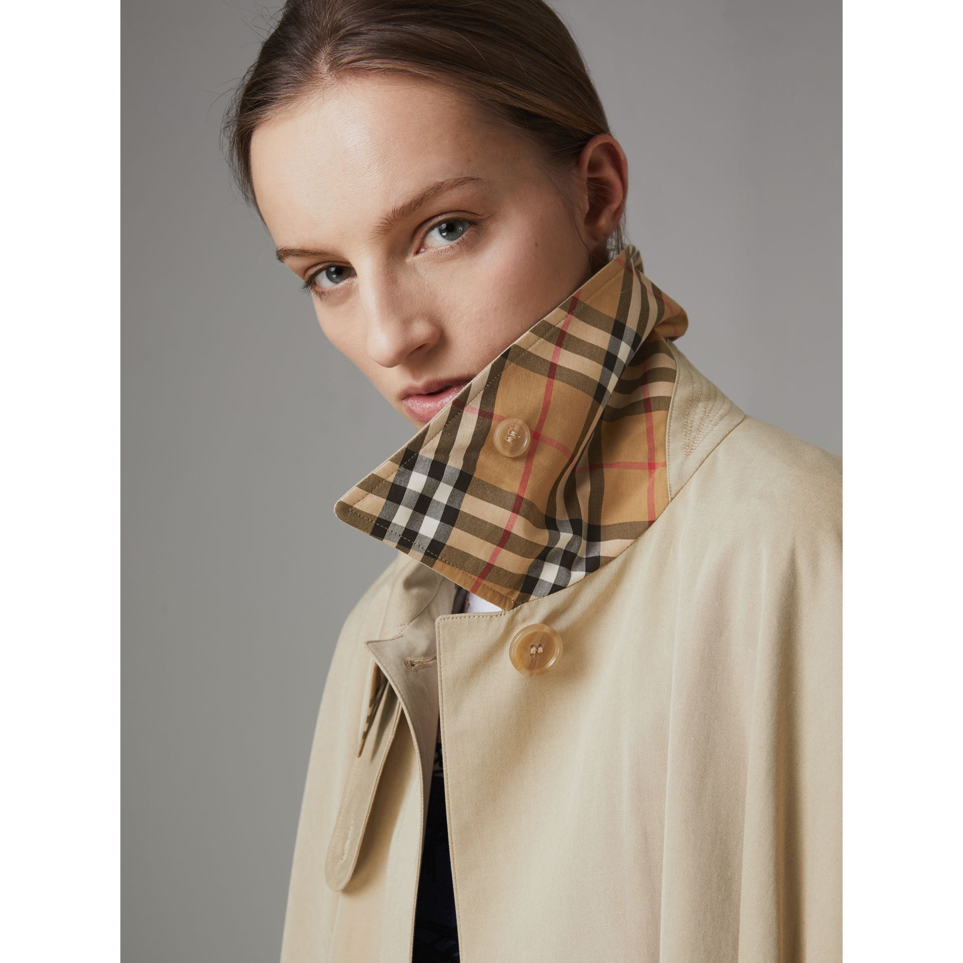 Tropical Gabardine Asymmetric Cape in Oatmeal - Women | Burberry United States - gallery image 1