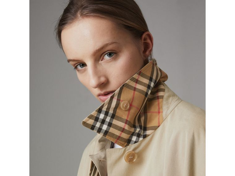 Tropical Gabardine Asymmetric Cape in Oatmeal - Women | Burberry United States - cell image 1