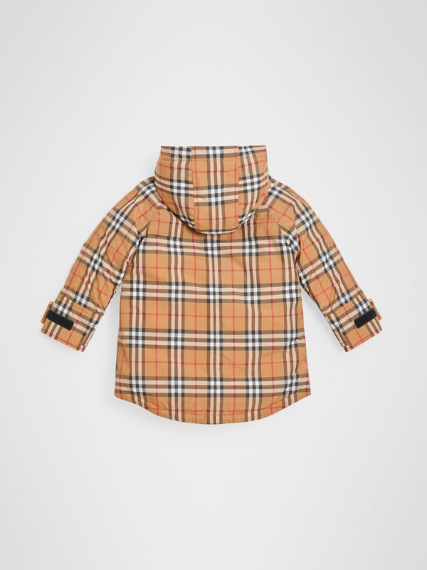 Vintage Check Down-filled Hooded Puffer Jacket in Antique Yellow | Burberry Australia - cell image 3