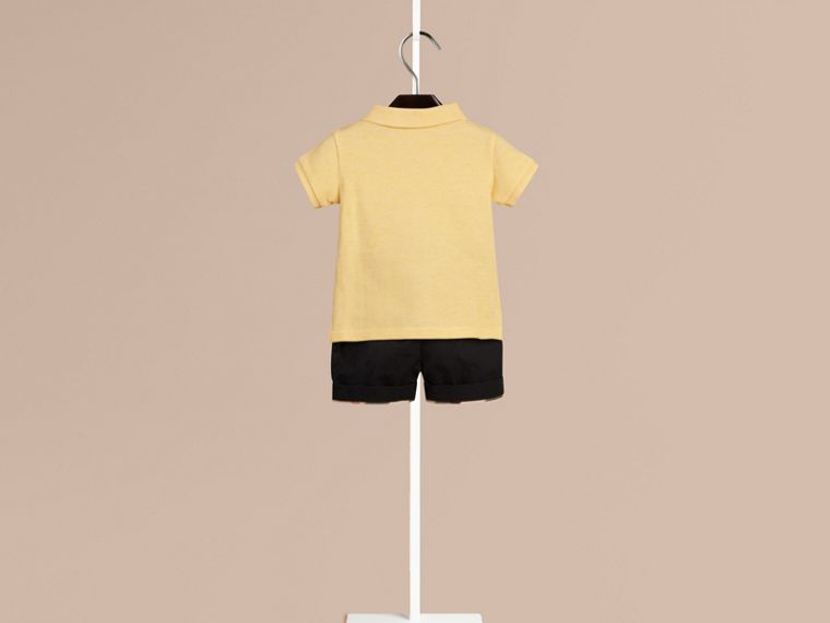 Camomile yellow melange Burberry Baby Knight Polo Shirt - cell image 1