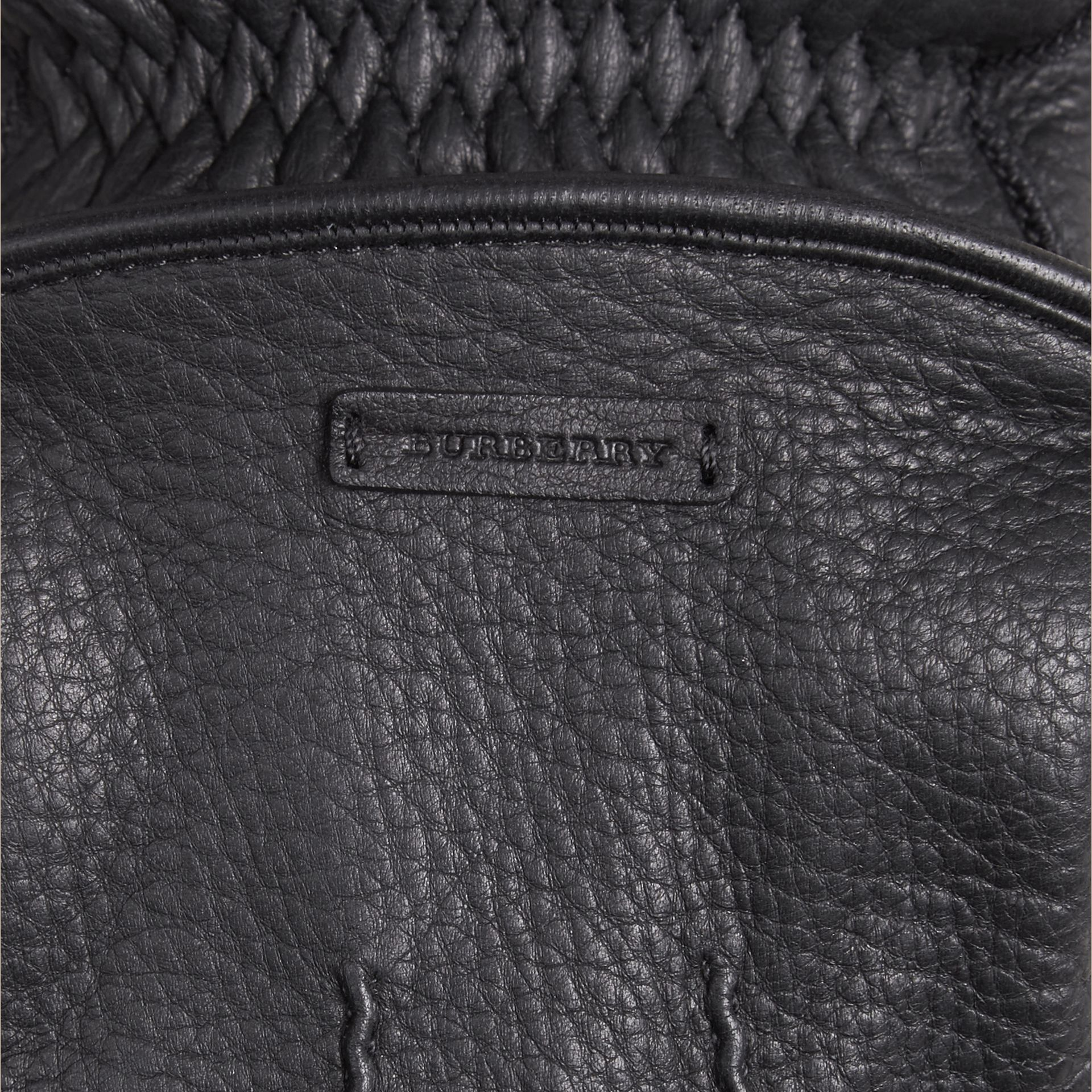 Fur Lined Deerskin Gloves - Men | Burberry - gallery image 2