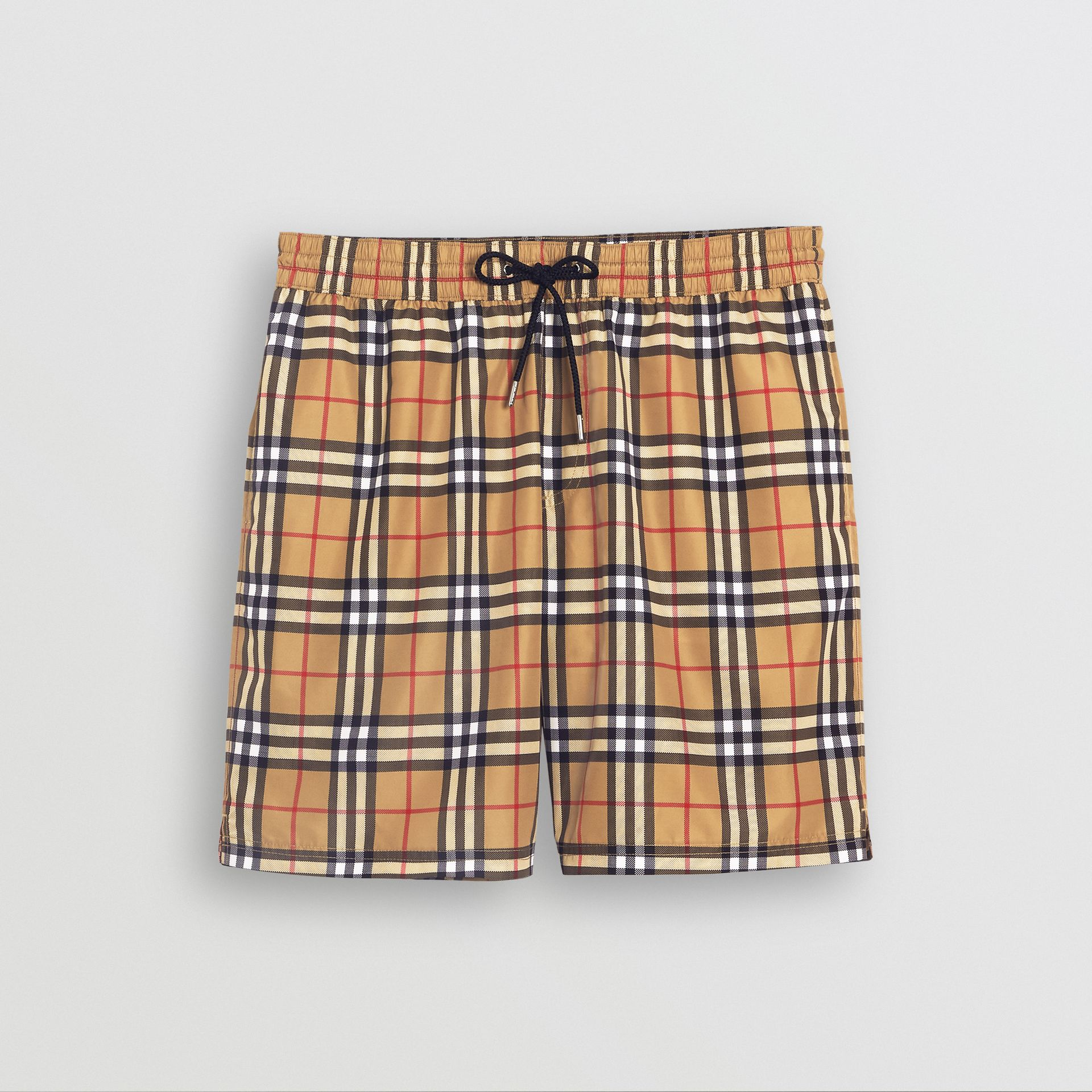 Vintage Check Drawcord Swim Shorts in Antique Yellow - Men | Burberry United Kingdom - gallery image 3