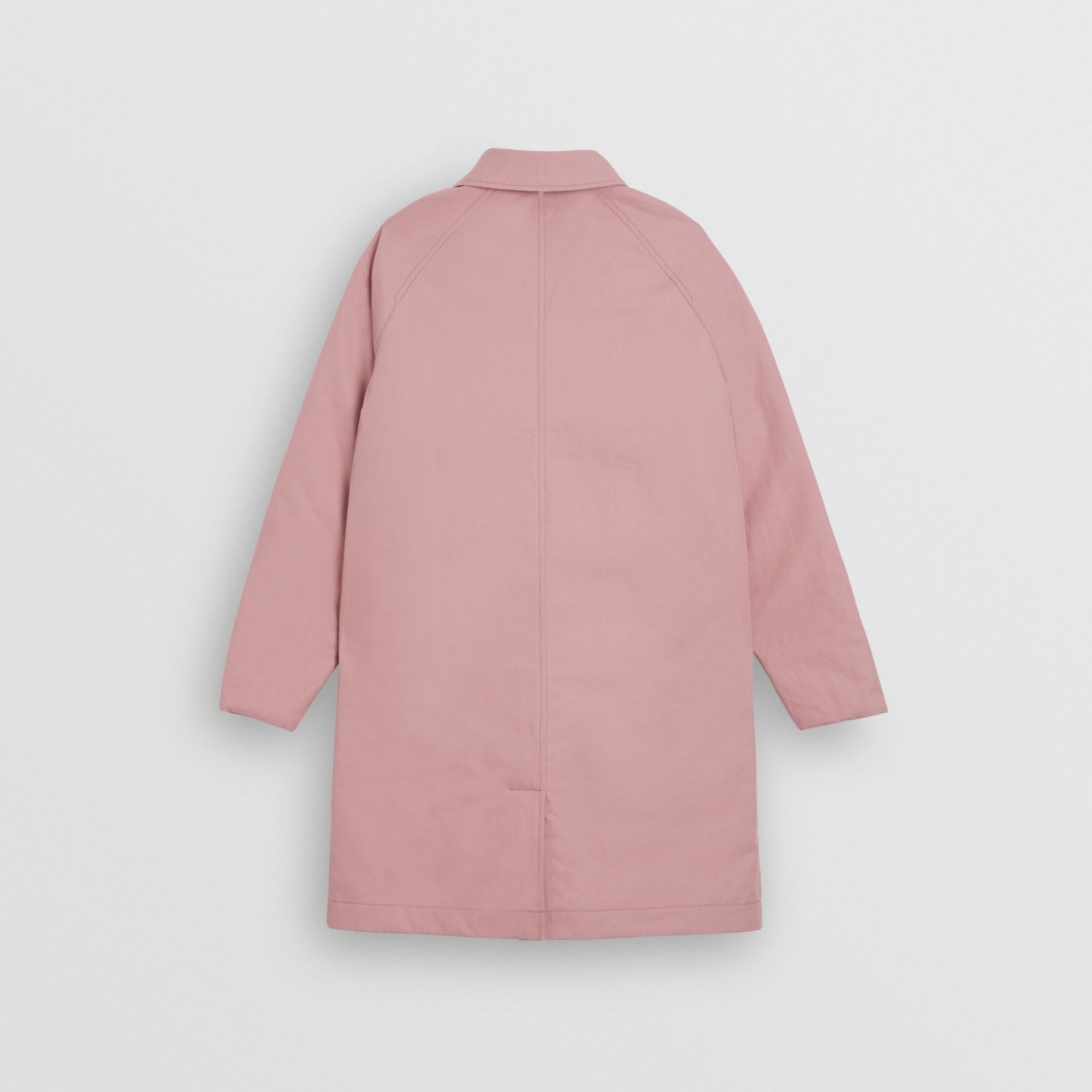 Reversible Tropical Gabardine Car Coat in Chalk Pink | Burberry - gallery image 3