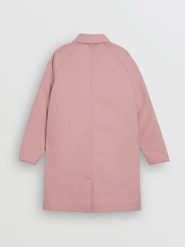 Reversible Tropical Gabardine Car Coat in Chalk Pink | Burberry United States - cell image 3