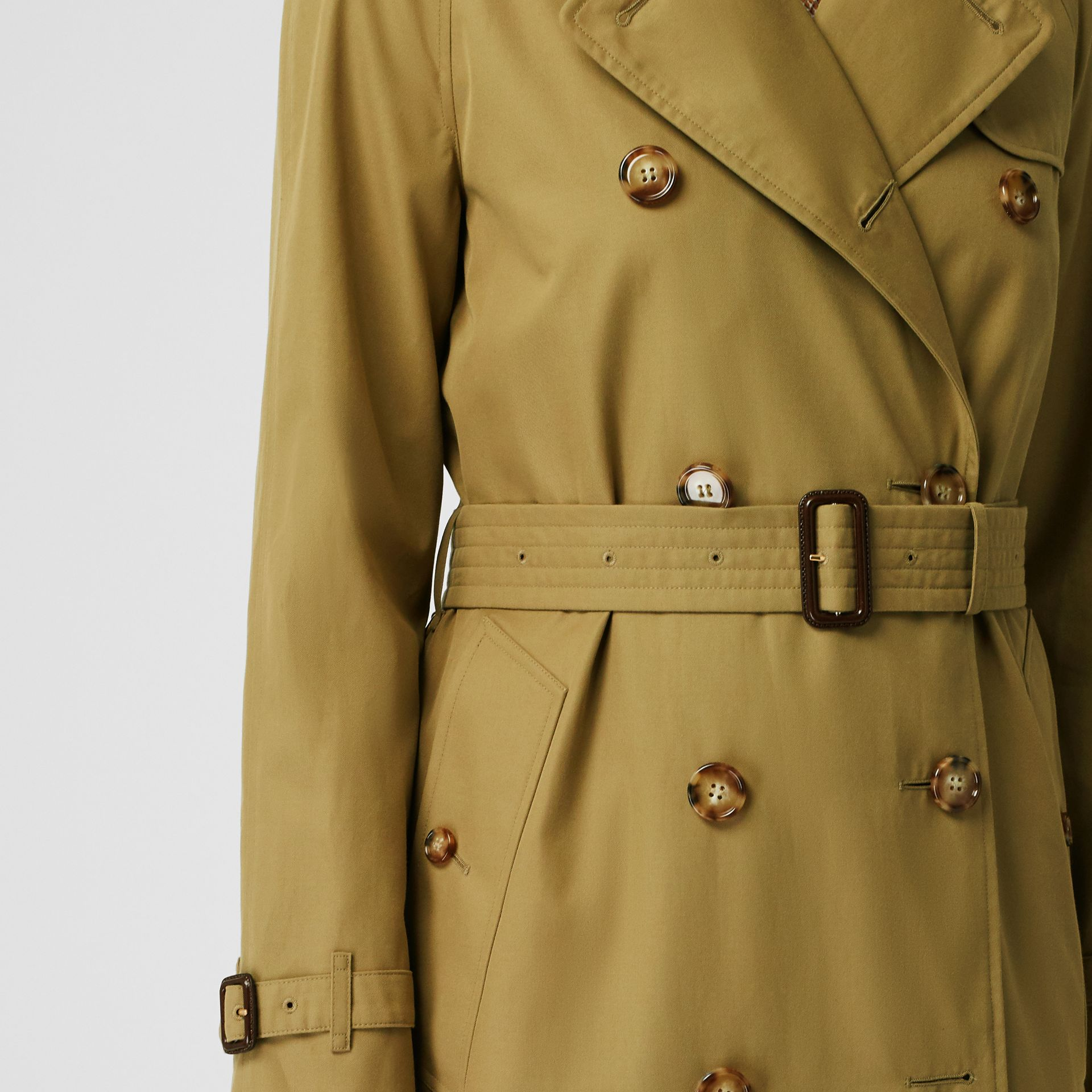 The Waterloo Trench Coat in Rich Olive - Women | Burberry United Kingdom - gallery image 5