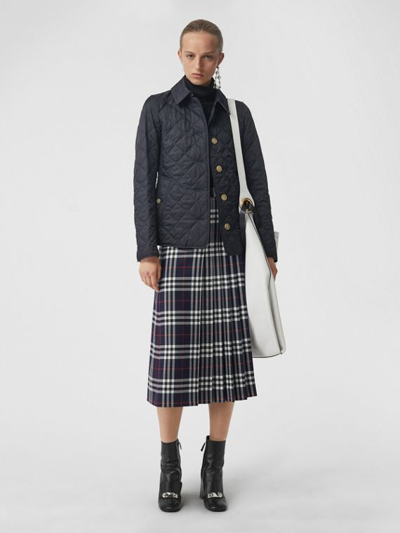 Tartan Wool Kilt in Navy