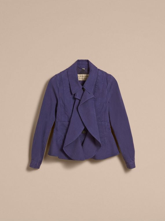 Draped Cotton Utility Jacket - cell image 3