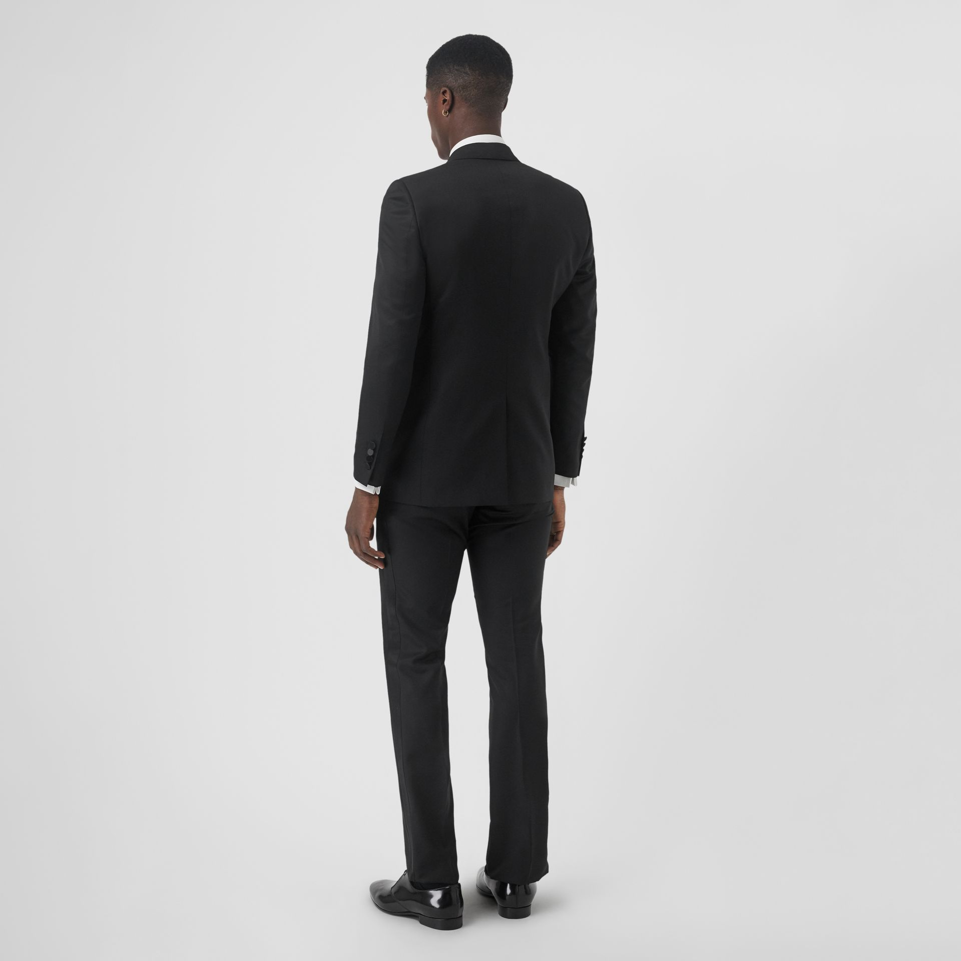 Classic Fit Wool Silk Tuxedo in Black - Men | Burberry - gallery image 2