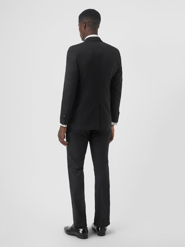 Classic Fit Wool Silk Tuxedo in Black - Men | Burberry - cell image 2