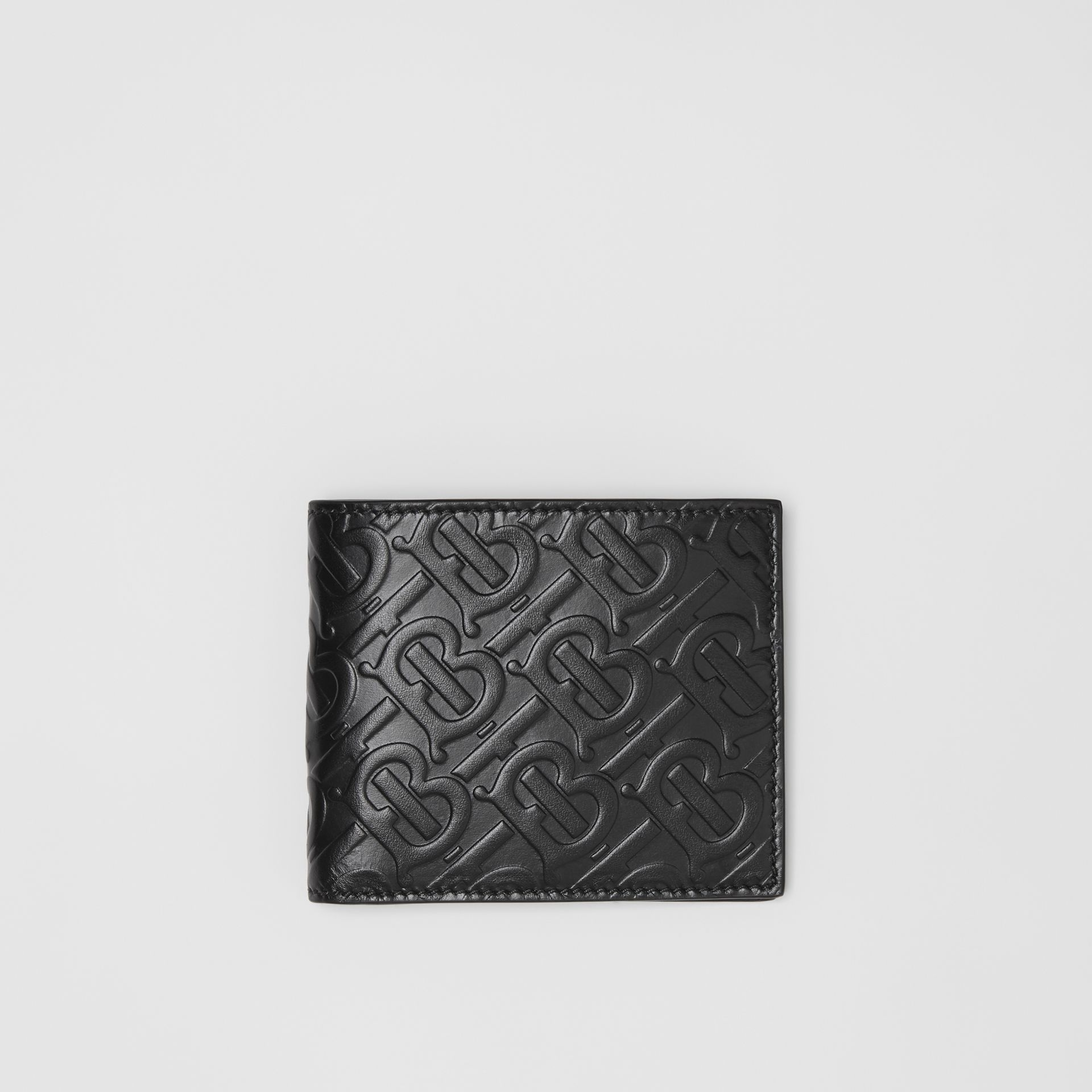 Monogram Leather Bifold Wallet with ID Card Case in Black - Men | Burberry Singapore - gallery image 0