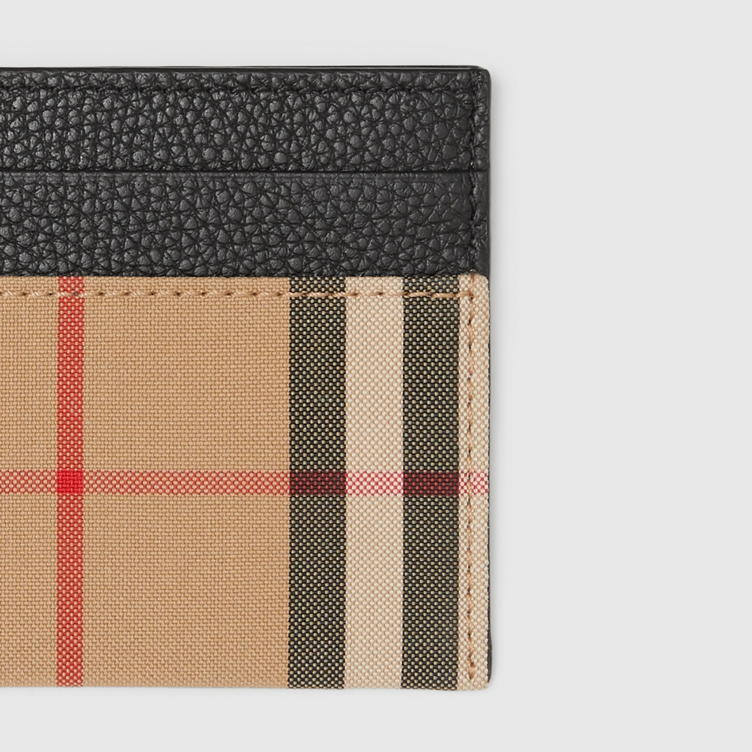 Vintage Check and Leather Card Case in Black - Women | Burberry United Kingdom - 2