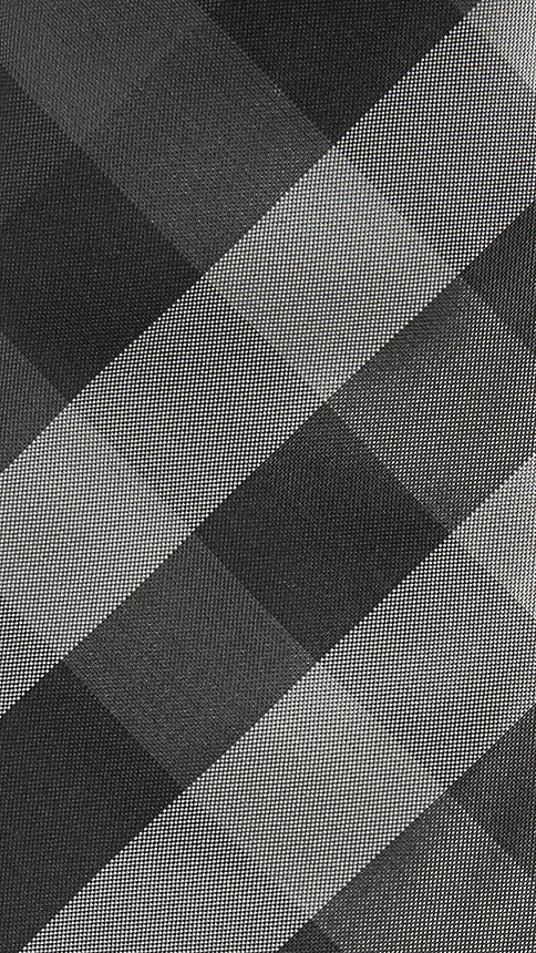 Dark charcoal Modern Cut Check Silk Tie - Image 2