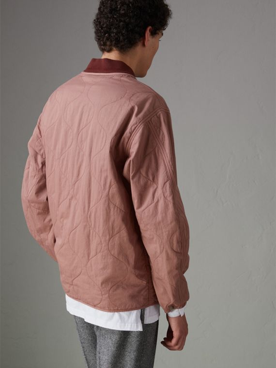 Lightweight Quilted Cotton Bomber Jacket in Rosewood - Men | Burberry Australia - cell image 2